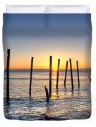 Horizon Sunburst Duvet Cover by Michael Ver Sprill