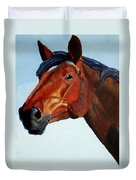 Horse Head Duvet Cover by Mike Jory