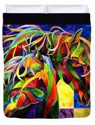 Horse Hues Duvet Cover by Sherry Shipley