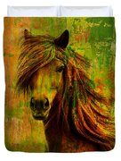 Horse Paintings 001 Duvet Cover by Catf