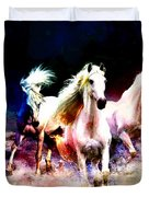 Horse paintings 002 Duvet Cover by Catf