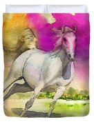 Horse Paintings 007 Duvet Cover by Catf