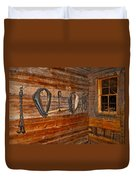 Horse Stable Duvet Cover by Frozen in Time Fine Art Photography