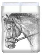 Horse's Head with Bridle Duvet Cover by Sarah Parks