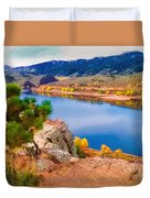 Horsetooth Lake Overlook Duvet Cover by Jon Burch Photography