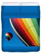 Hot Air Balloons Quechee Vermont Duvet Cover by Edward Fielding