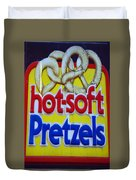 Hot Pretzels Duvet Cover by Skip Willits