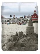Hotel Del Coronado In Coronado California 5D24264 Duvet Cover by Wingsdomain Art and Photography