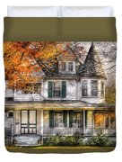 House - Classic Victorian Duvet Cover by Mike Savad