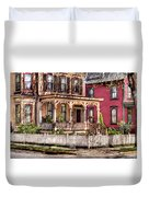 House - Country Victorian Duvet Cover by Mike Savad