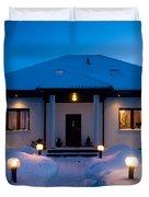 House In Winter Duvet Cover by Michal Bednarek
