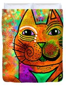 House of Cats series - Blinks Duvet Cover by Moon Stumpp