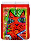 House Of Cats Series - Bops Duvet Cover by Moon Stumpp