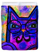 House of Cats series - Paws Duvet Cover by Moon Stumpp