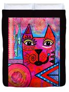 House Of Cats Series - Tally Duvet Cover by Moon Stumpp