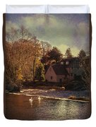 House On The River Duvet Cover by Amanda And Christopher Elwell