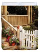 House - Rutherford NJ - My Grandmother's Garden  Duvet Cover by Mike Savad