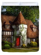 House - Westfield NJ - Fit for a king Duvet Cover by Mike Savad