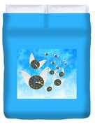 How Time Flies Duvet Cover by Juli Scalzi