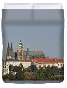 Hradcany - Cathedral Of St Vitus On The Prague Castle Duvet Cover by Michal Boubin