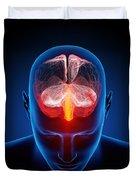 Human brain Duvet Cover by Johan Swanepoel