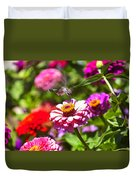 Hummingbird Flight Duvet Cover by Garry Gay