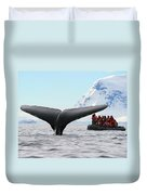 Humpback Whale Fluke  Duvet Cover by Tony Beck