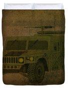 Humvee Midnight Desert  Duvet Cover by Movie Poster Prints