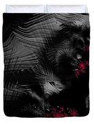 Hunger - Dark And Blood Red Fractal Art Duvet Cover by Matthias Hauser