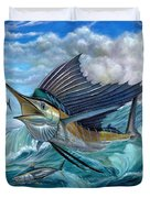Hunting Sail Duvet Cover by Terry Fox