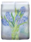 Hyacinths Duvet Cover by Sophia Elliot