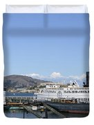 Hyde Street Pier - San Francisco Duvet Cover by Daniel Hagerman