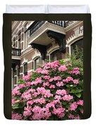 Hydrangeas In Holland Duvet Cover by Carol Groenen