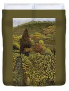 I Filari In Autunno Duvet Cover by Guido Borelli