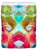 I Found Your Dog - Art By Sharon Cummings Duvet Cover by Sharon Cummings