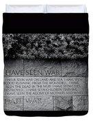 I Hate War Duvet Cover by Allen Beatty