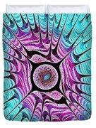 Ice Dragon Eye Duvet Cover by Anastasiya Malakhova