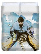 Ice Hockey Duvet Cover by Corporate Art Task Force