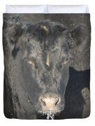 Iced Beef Duvet Cover by Bonfire Photography