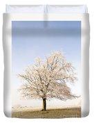 Iced Tree Duvet Cover by Anne Gilbert