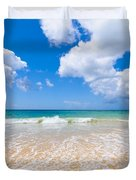 Idyllic Summer Beach Algarve Portugal Duvet Cover by Amanda And Christopher Elwell