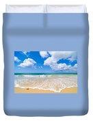 Idyllic Summer Beach Algarve Portugal Duvet Cover by Amanda Elwell