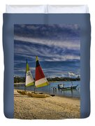 Idyllic Thai Beach Scene Duvet Cover by David Smith