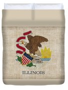 Illinois State Flag Duvet Cover by Pixel Chimp
