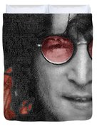 Imagine John Lennon Again Duvet Cover by Tony Rubino