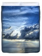 In Heaven's Light - Beach Ocean Art By Sharon Cummings Duvet Cover by Sharon Cummings