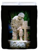 In Honor Of The Wounded Warrior Duvet Cover by Kay Novy