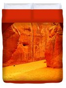 In Orange Chasms Duvet Cover by Jeff Swan