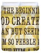 In the Beginning... Duvet Cover by Debbie DeWitt