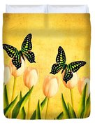In the Butterfly Garden Duvet Cover by Edward Fielding